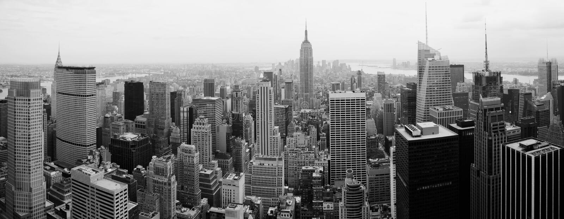 Ciudad Scape de Manhattan foto de archivo