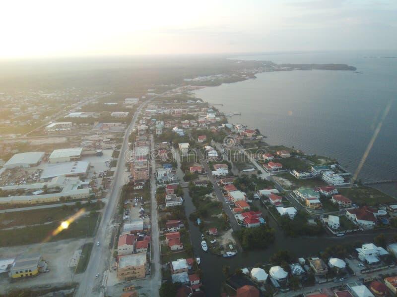 Ciudad septentrional de Belice, Belice imagen de archivo libre de regalías