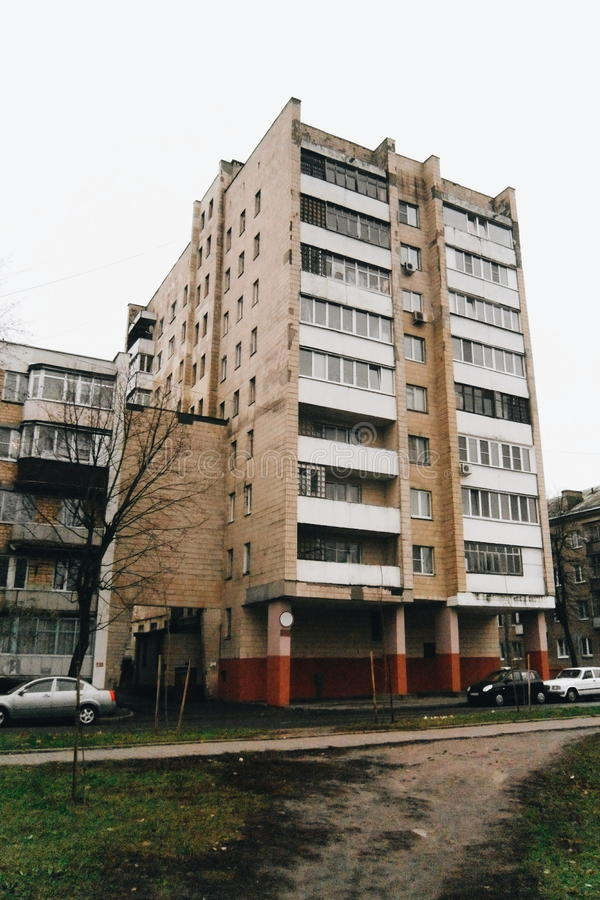 Ciudad soviética imágenes de archivo libres de regalías