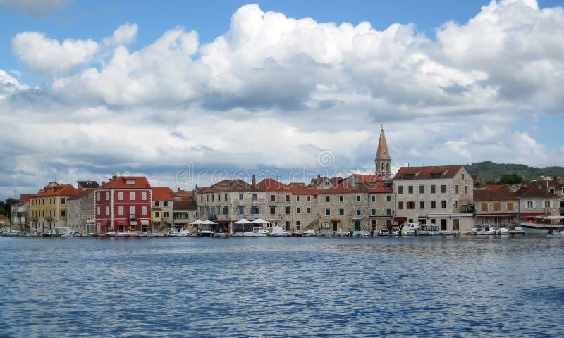 Ciudad Starigrad imagen de archivo