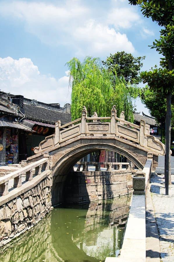 Ciudad Suzhou China del agua de Luzhi imagen de archivo libre de regalías