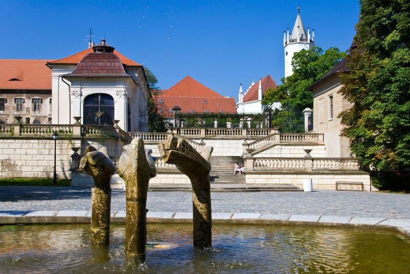 Ciudad Teplice, Bohemia, República Checa, Europa del balneario foto de archivo