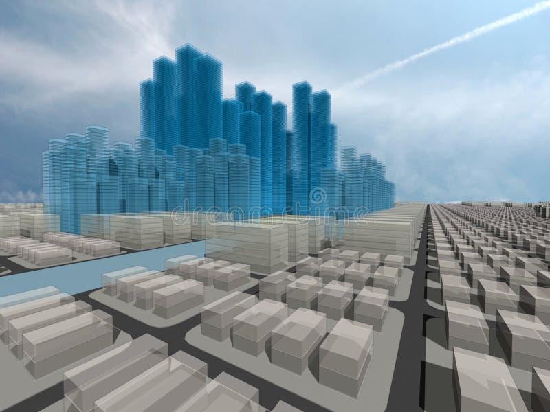 Ciudad total stock de ilustración
