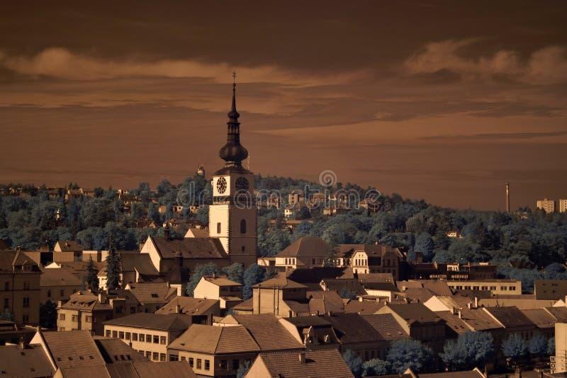 Ciudad Trebic imagen de archivo