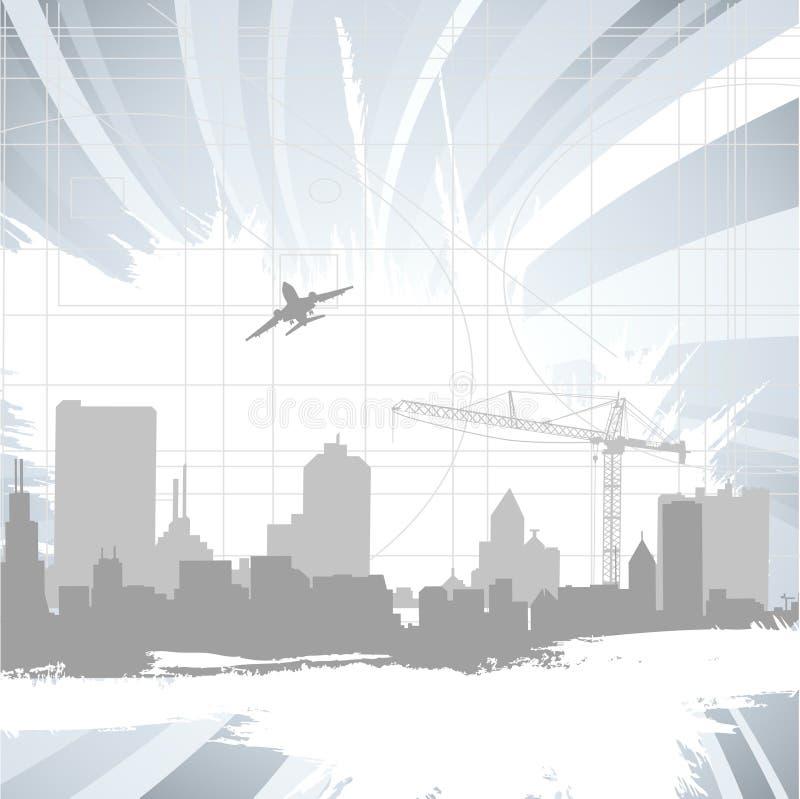 Ciudad urbana ilustración del vector