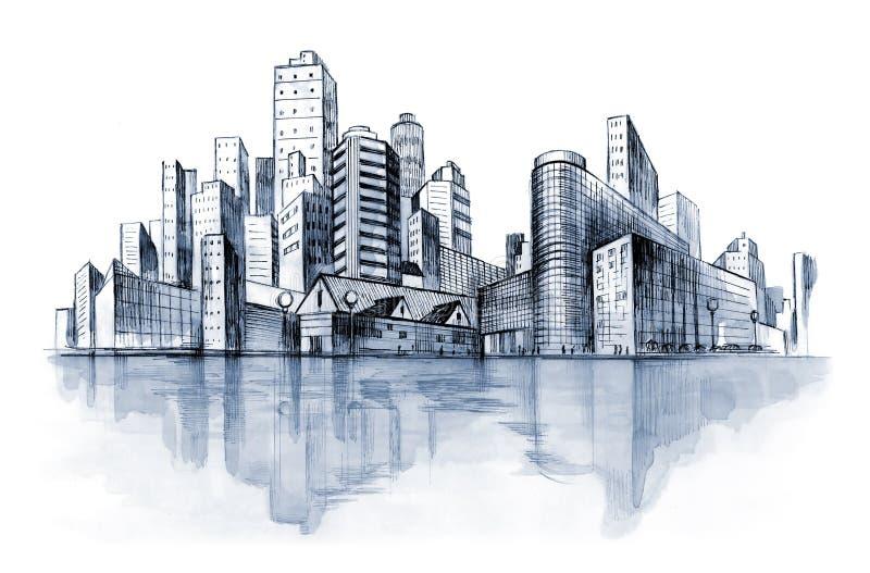 Ciudad urbana (serie A) stock de ilustración