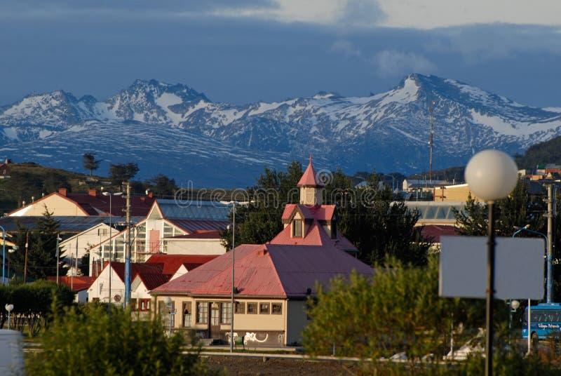 Ciudad Ushuaia, la Argentina imagen de archivo libre de regalías