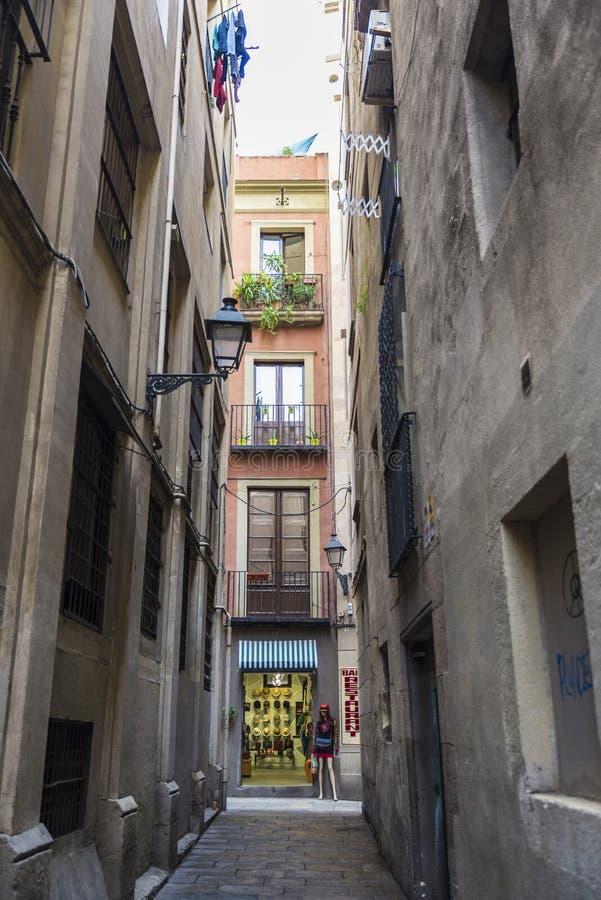 Ciudad vieja, Barcelona fotos de archivo