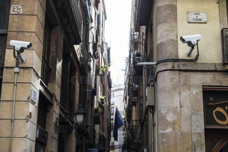 Ciudad vieja, Barcelona foto de archivo libre de regalías