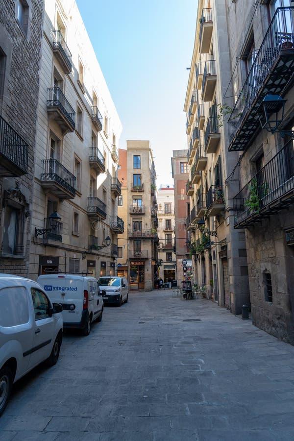 Ciudad vieja Barcelona imagen de archivo libre de regalías