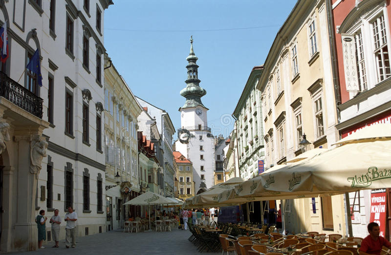 Ciudad vieja, Bratislava, Slov fotos de archivo