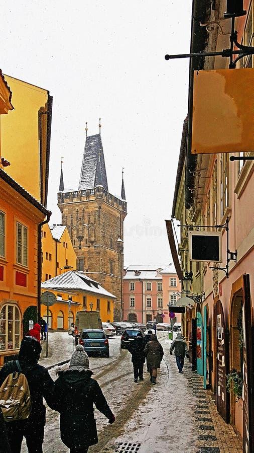 Ciudad vieja Charles Bridge Tower, Praga, la República Checa imagen de archivo libre de regalías