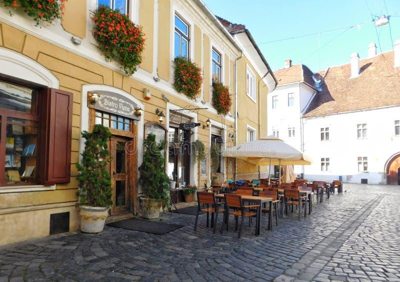 Ciudad vieja Cluj Napoca imagen de archivo libre de regalías