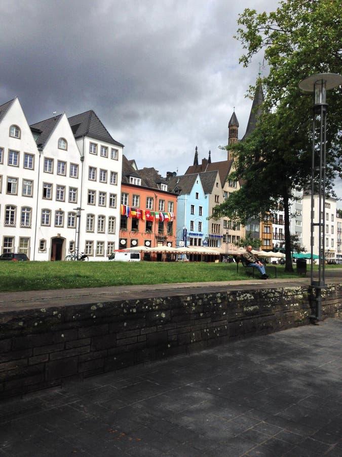 Ciudad vieja Colonia imagen de archivo