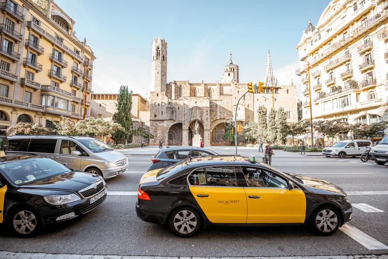 Ciudad vieja de Barcelona fotografía de archivo