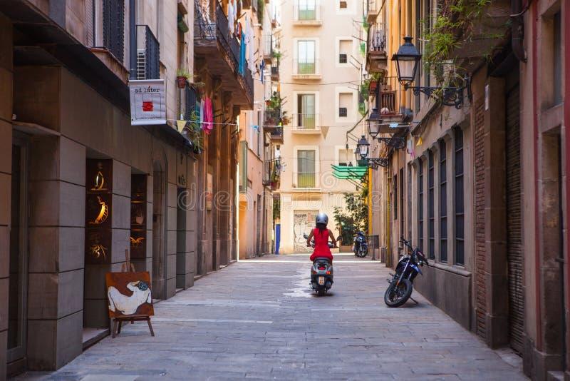 Ciudad vieja de Barcelona imágenes de archivo libres de regalías