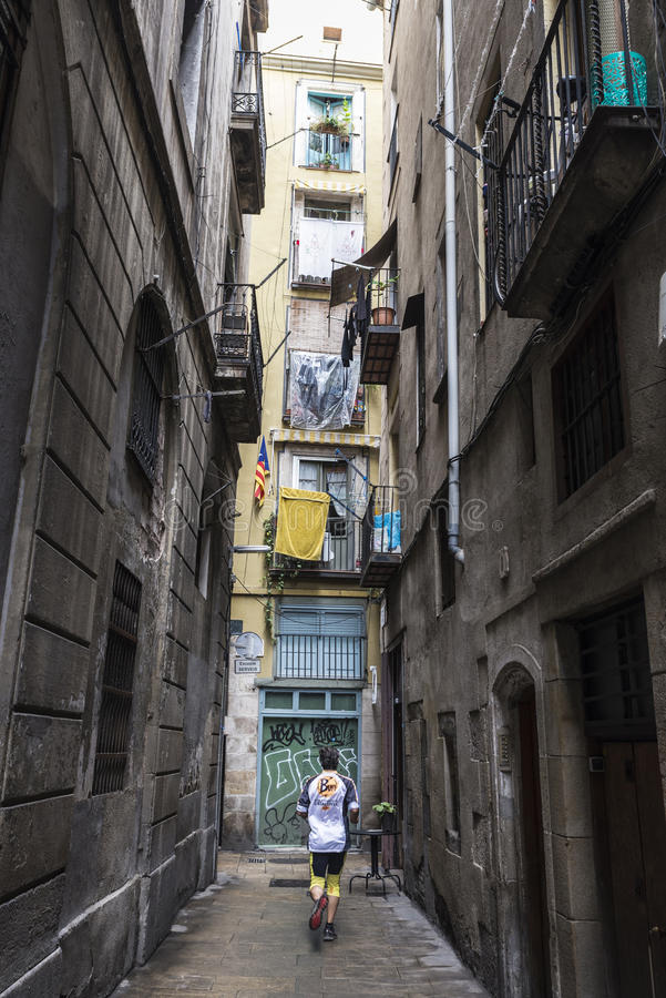 Ciudad vieja de Barcelona imagenes de archivo