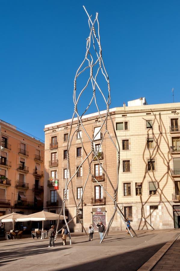 Ciudad vieja de Barcelona imagen de archivo libre de regalías