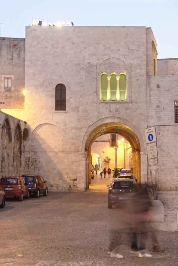 Ciudad vieja de Bari, Puglia, Italia De ?ltima hora mudanza fotografía de archivo