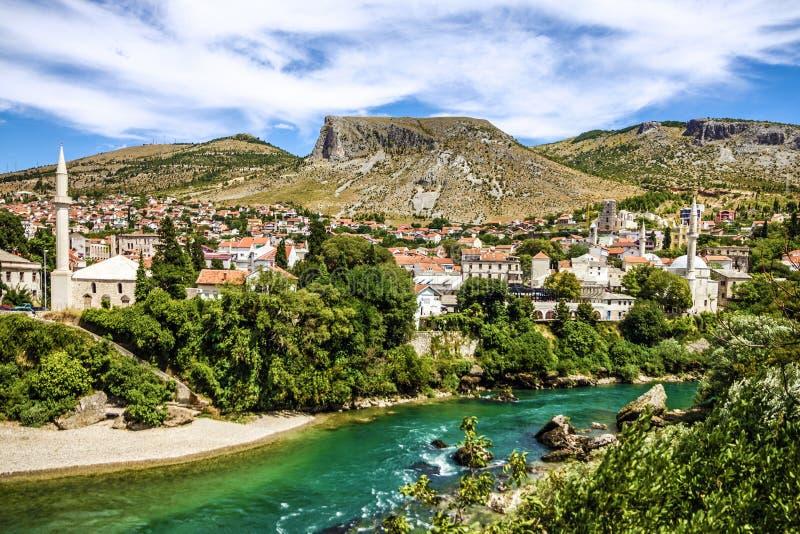 Ciudad vieja de Bosnia y Herzegovina, Mostar imagen de archivo