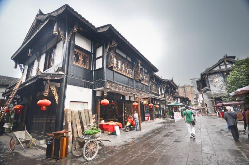 Ciudad vieja de Chengdu fotografía de archivo libre de regalías