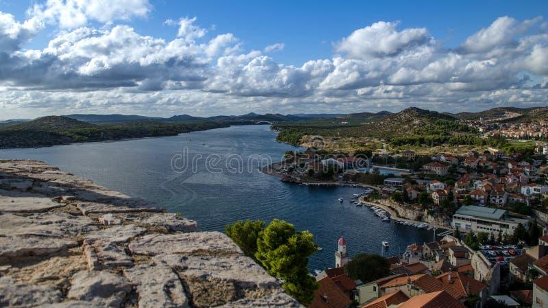 Ciudadvieja de Croacia del ibenik de Å imágenes de archivo libres de regalías