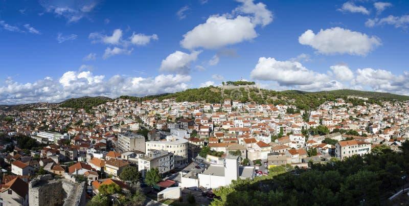 Ciudadvieja de Croacia del ibenik de Å fotografía de archivo libre de regalías