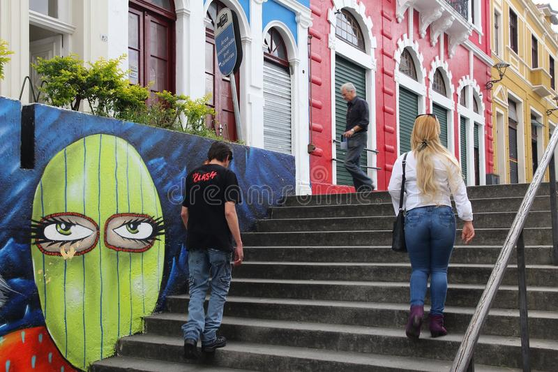 Ciudad vieja de Curitiba imagenes de archivo
