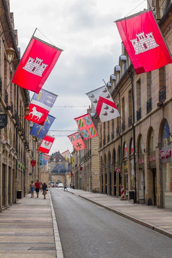 Ciudad vieja de Dijon - Borgoña, Francia imagen de archivo libre de regalías