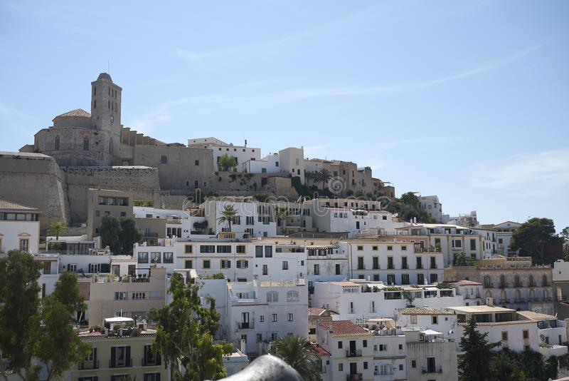 Ciudad vieja de Eivissa fotografía de archivo libre de regalías