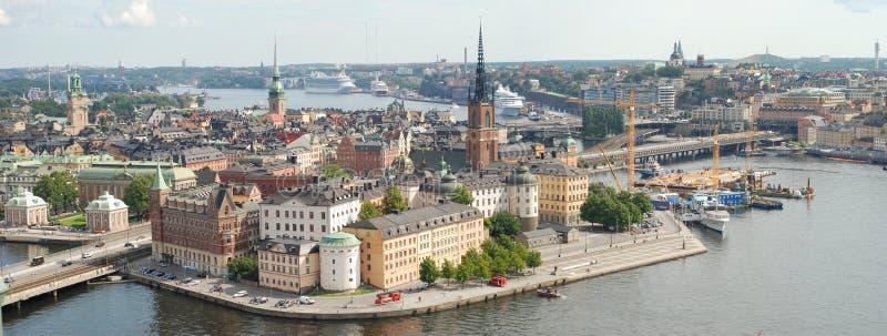 Ciudad vieja de Estocolmo en Suecia fotografía de archivo