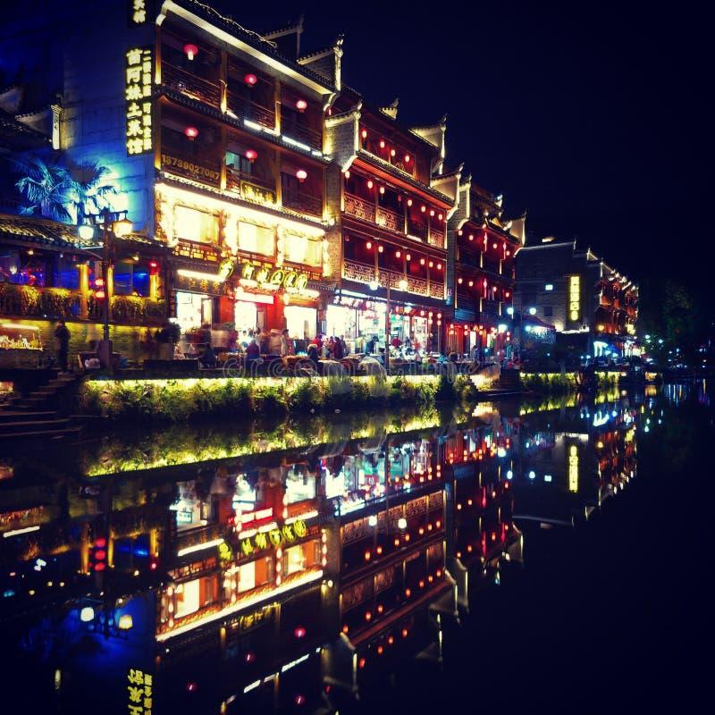Ciudad vieja de Feng Huang Phoenix en Hunan China fotografía de archivo libre de regalías