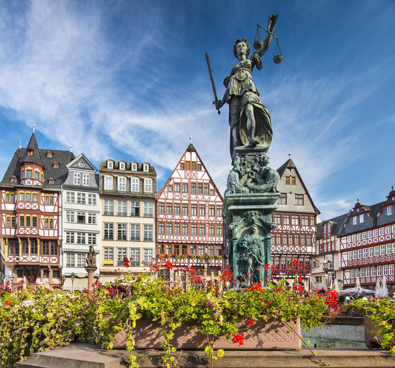 Ciudad vieja de Francfort Alemania imágenes de archivo libres de regalías
