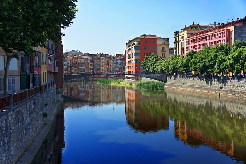 Ciudad vieja de Girona, Cataluña, España foto de archivo libre de regalías