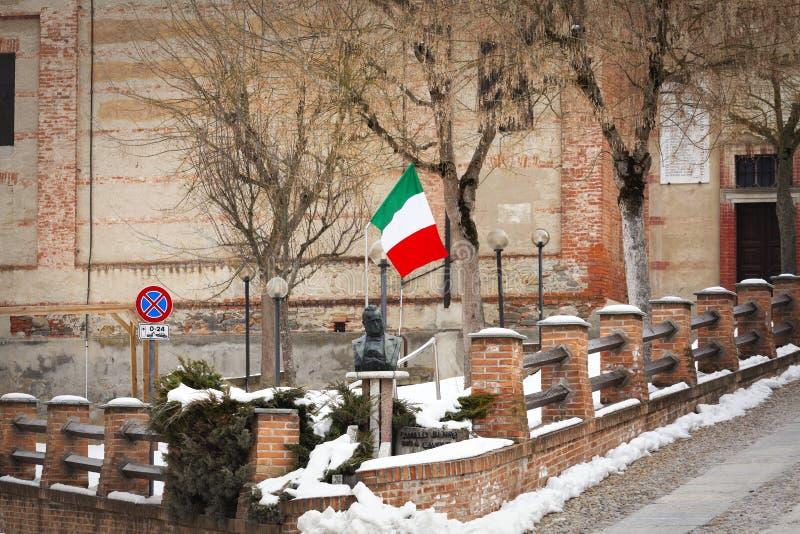 Ciudad vieja de Grinzane Cavour Imagen del color foto de archivo