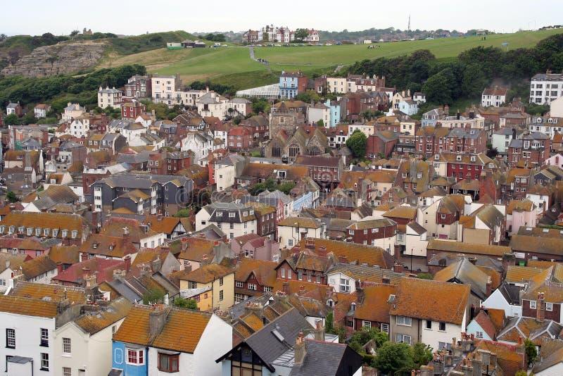 Ciudad vieja de Hastings. imagenes de archivo