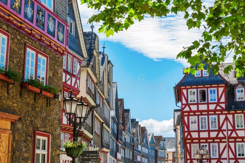 Ciudad vieja de Herborn, Alemania imagen de archivo