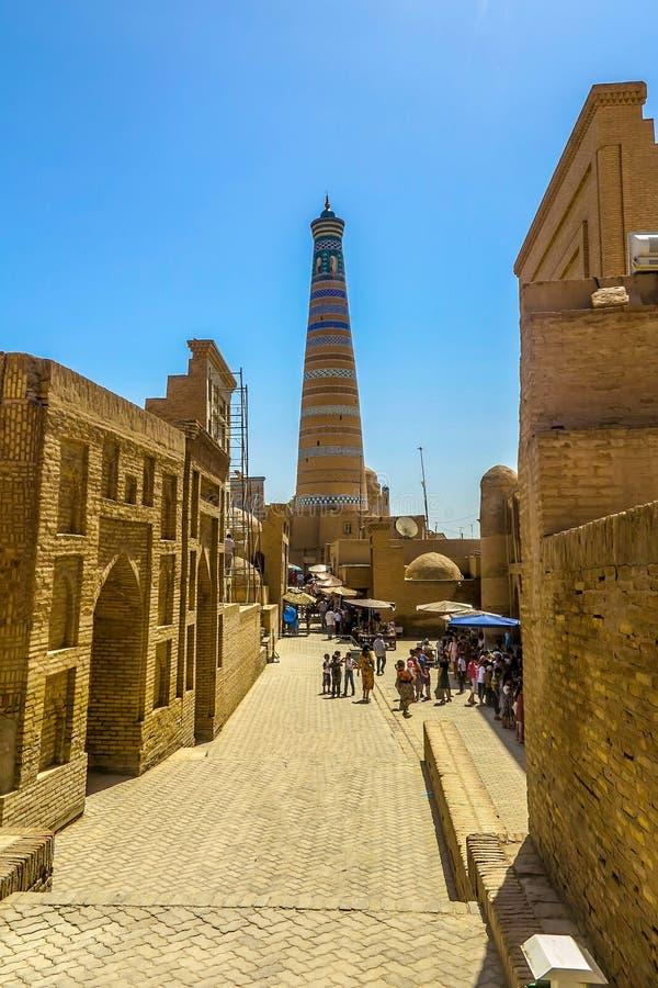 Ciudad vieja 56 de Khiva imagenes de archivo