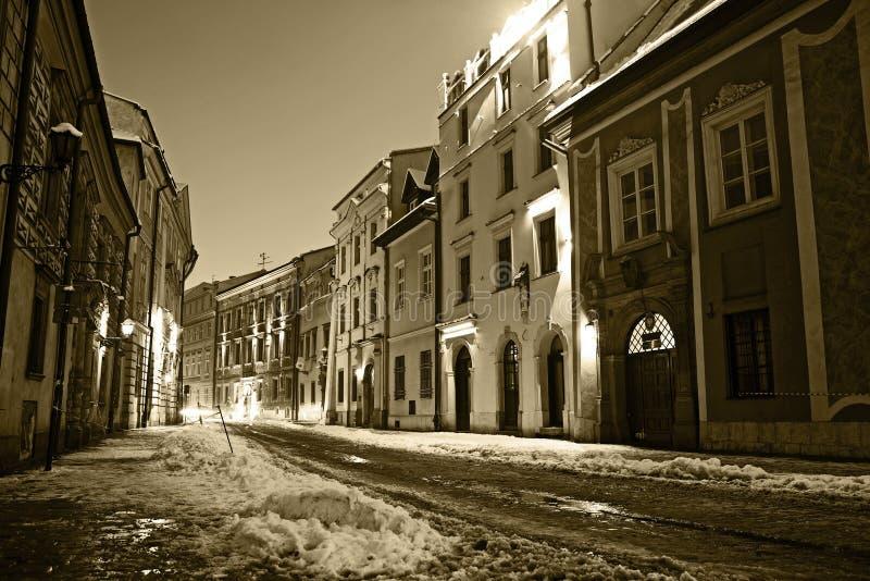 Ciudad vieja de Kraków fotografía de archivo