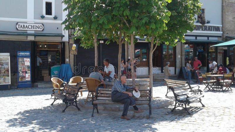 Ciudad vieja de la arquitectura de Albania Korca foto de archivo