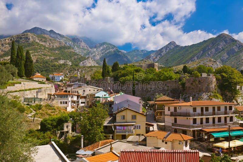 Ciudad vieja de la barra - Montenegro fotografía de archivo libre de regalías