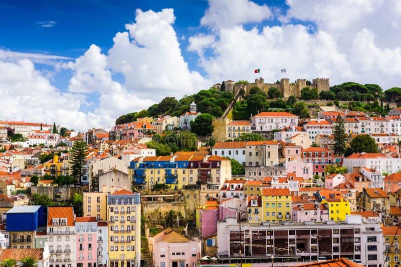 Ciudad vieja de Lisboa Portugal foto de archivo libre de regalías