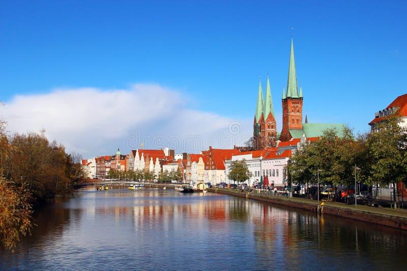 Ciudad vieja de Lubeck, Alemania fotografía de archivo