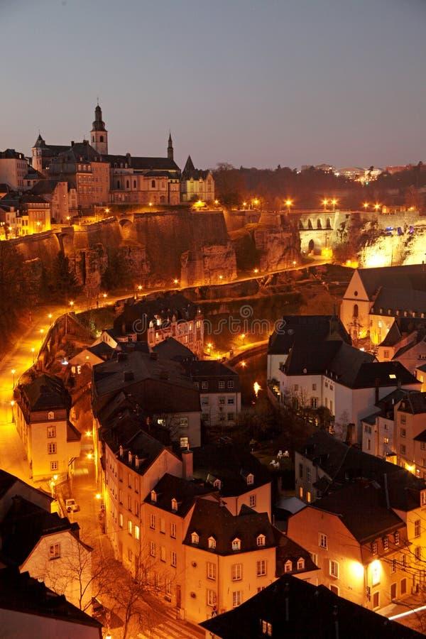 Ciudad vieja de Luxemburgo fotografía de archivo libre de regalías