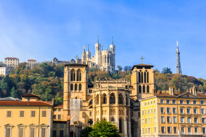 Ciudad vieja de Lyon, Francia imagen de archivo