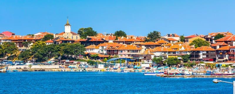 Ciudad vieja de Nesebar en Bulgaria por el Mar Negro fotos de archivo libres de regalías
