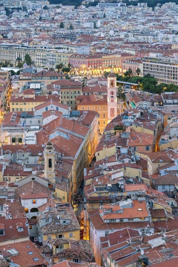 Ciudad vieja de Niza, Francia foto de archivo