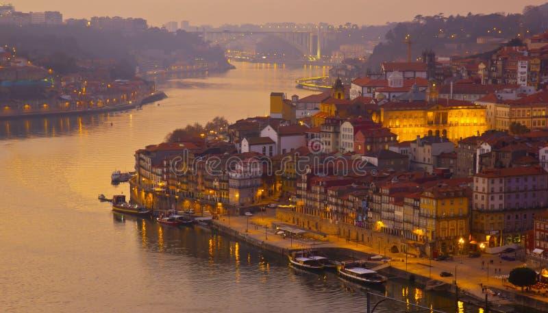 Ciudad vieja de Oporto, Portugal imagen de archivo
