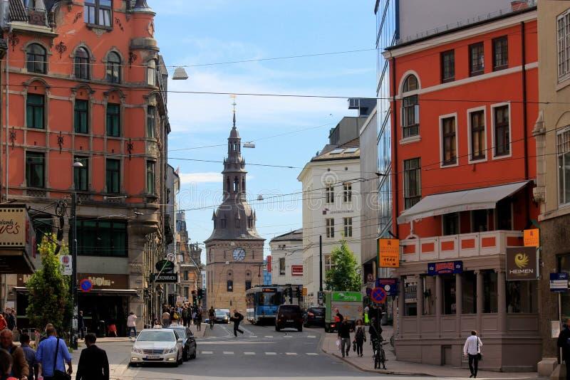 Ciudad vieja de Oslo, Noruega foto de archivo libre de regalías