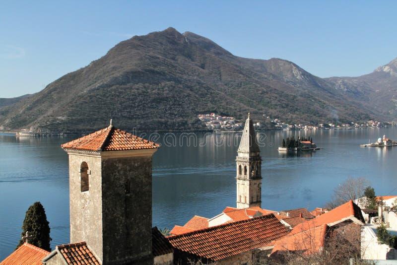 Ciudad vieja de Perast - Montenegro fotografía de archivo